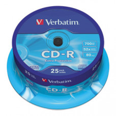 CD-R 700MB 52X VERBATIM EXTRA PRO. SPINDLE 25/1