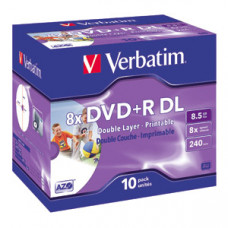 DVD+R DL 8.5GB 8X VERBATIM PRINTABLE JC EOL